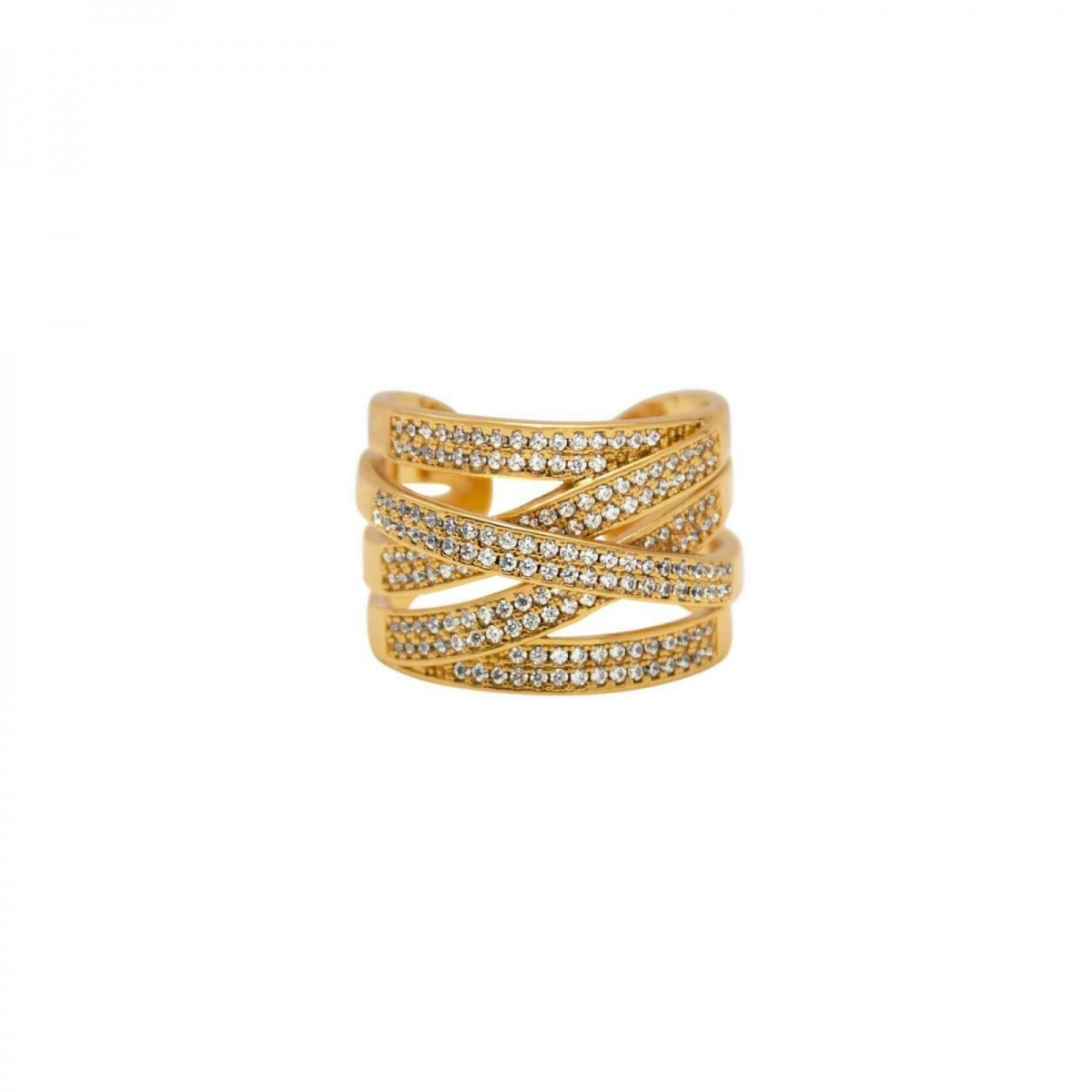 1A1014 Shimmer Cubic Ring Guld